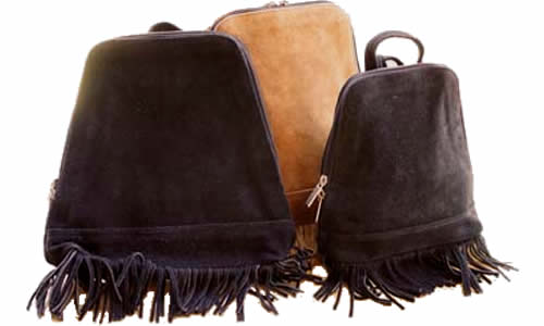 Fringe Backpacks in 2 colors and 2 sizes