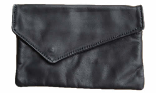 Basic Black Womans Leather Wallet