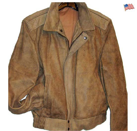 Men's cowhide all leather jacket