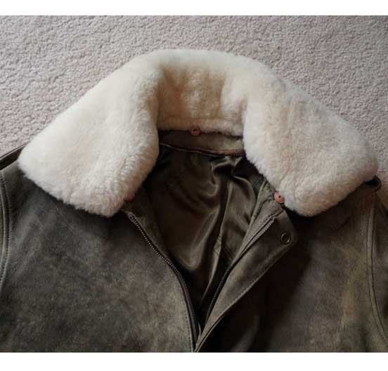 Mouton Shearling wool removable collar