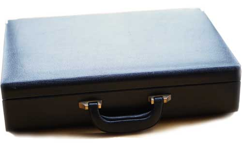 Leather Briefcase with Leather lining