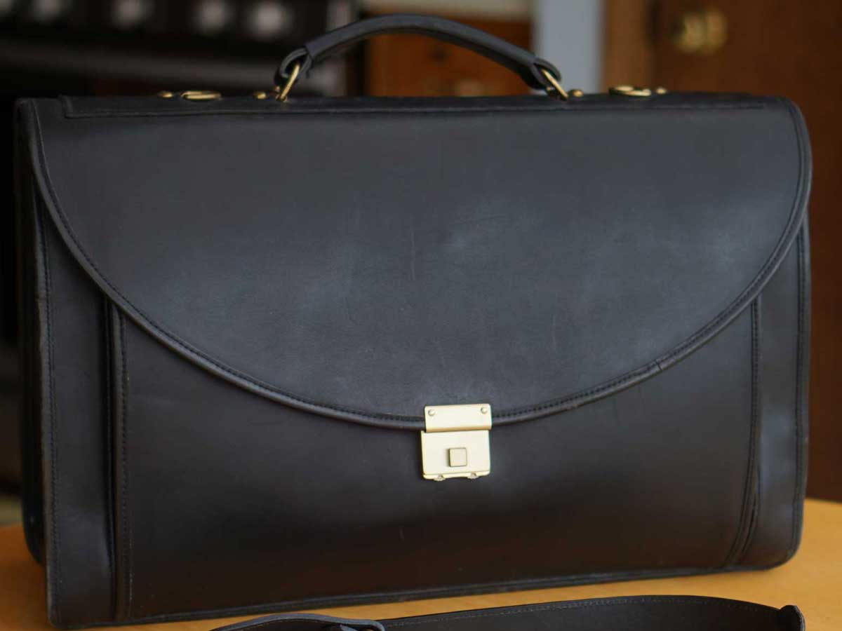 Belting Leather Legal Briefcase with Leather lining